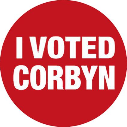 I voted Corbyn badge