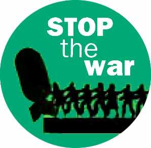 Stop the war – pushing bomb