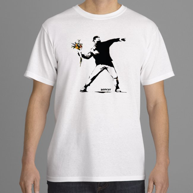 flower thrower white