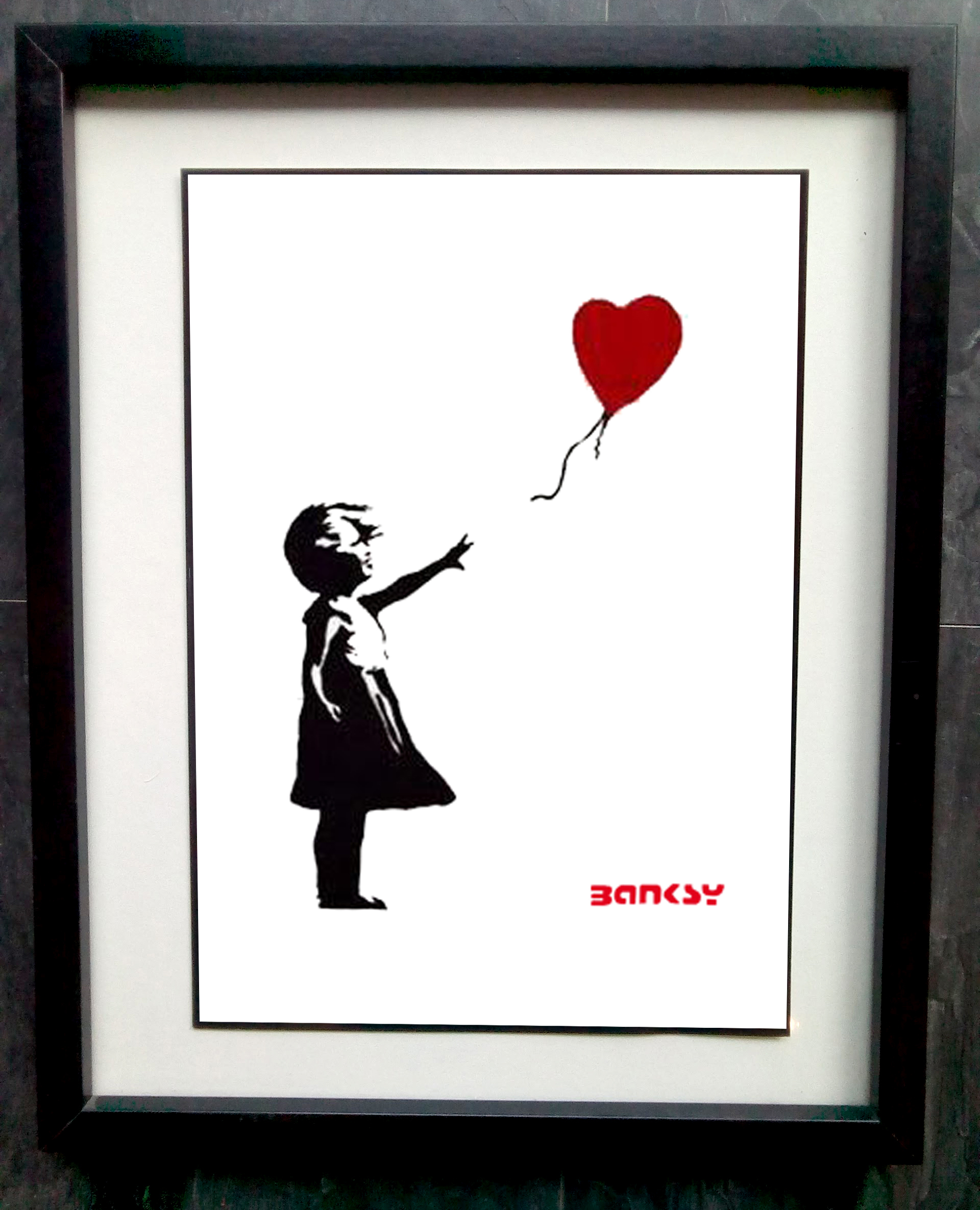 Balloon Heart A3 A4 Poster Print Banksy