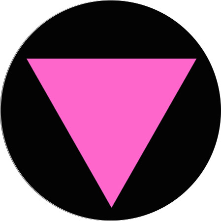 pink triangle badge