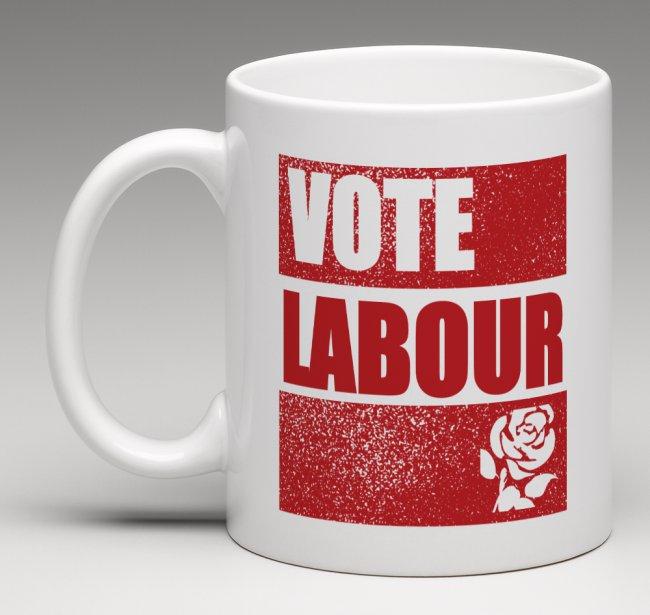 Vote Corbyn, vote Labour mug front